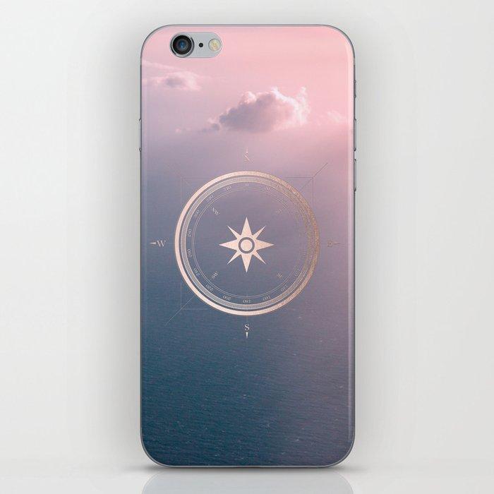 The Edge of Tomorrow - Rosegold Compass iPhone Skin