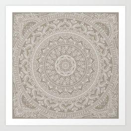 Mandala - Taupe Kunstdrucke