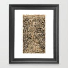 Cog castle Framed Art Print