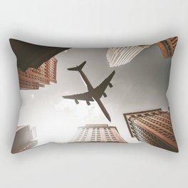 airplane in manhattan Rectangular Pillow
