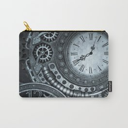 Silver Steampunk Clockwork Carry-All Pouch
