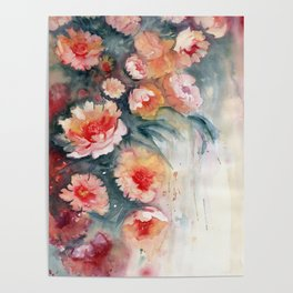 Floral Impressionist Watercolor Poster