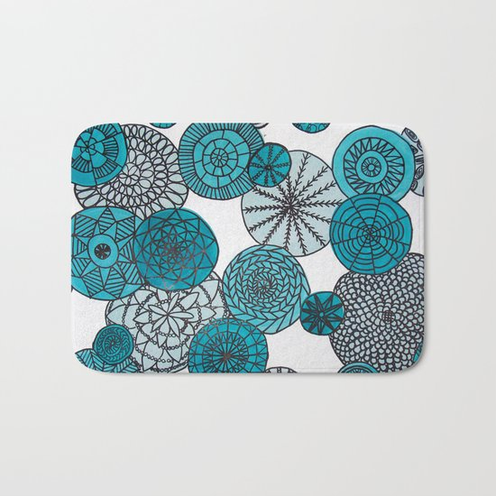 Blue Planets Bath Mat
