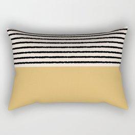 Texture - Black Stripes Gold Rectangular Pillow