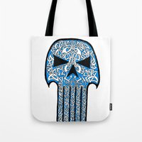 punisher Tote Bags featuring Celtic Punisher by ronnie mcneil