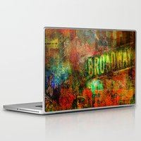 broadway Laptop & iPad Skins featuring Slice of Broadway by Ganech joe