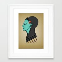 elf Framed Art Prints featuring Elf by Adelinne
