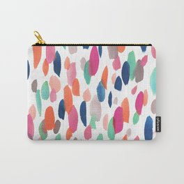 Watercolor Dashes Carry-All Pouch