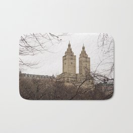 Winter in New York with the view of The San Remo apartment Bath Mat