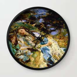 1907 Classical Masterpiece 'The Brook' by John Singer Sargent Wall Clock
