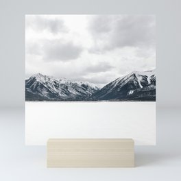Snow Mountains, Minimalist Mini Art Print