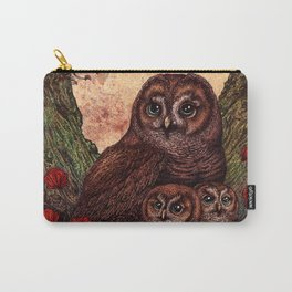 Tawny Owlets Carry-All Pouch