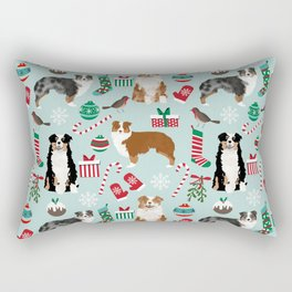 Australian Shepherd christmas festive holiday dog breed gifts for holidays Rectangular Pillow
