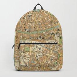 Vintage Map of Dublin Ireland (1914) Backpack