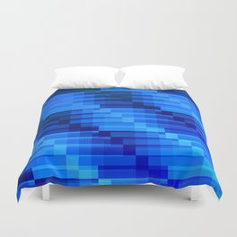 Buildings At Night In Blue Modern Abstract Duvet Cover
