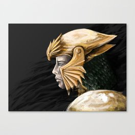 Gold helm Canvas Print