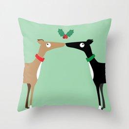 Hound Kiss Throw Pillow