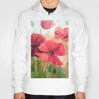 poppies Hoodies featuring Poppies by OLHADARCHUK