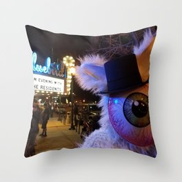 nobunny loves the Residents Throw Pillow