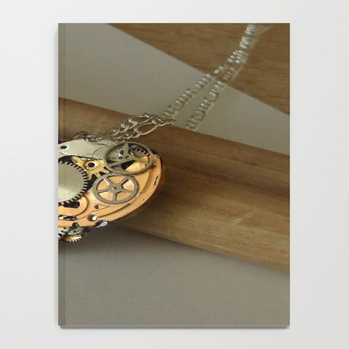 Steampunk Heart of Gold and Silver Notebook