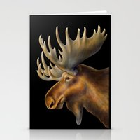 moose Stationery Cards featuring Moose by Tim Jeffs Art