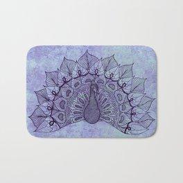 Doodle Peacock Purple Bath Mat