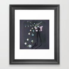 love makes you grow Framed Art Print