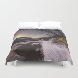 Dead End at Lambs Cayon Duvet Cover