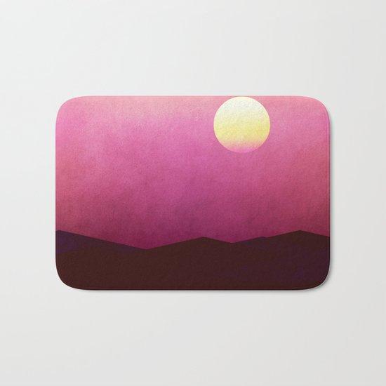 Setting Sun Over The Desert Bath Mat