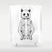 pandas Shower Curtains featuring Pandas by Benson Koo