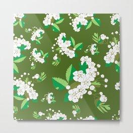 Hawthorn flower Metal Print