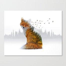 Wild I Shall Stay | Fox Canvas Print