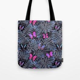 Butterflies Night Dance Tote Bag
