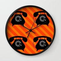 telephone Wall Clocks featuring telephone by vitamin