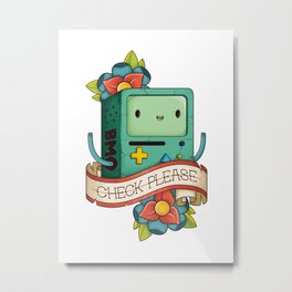 BMO | CHECK PLEASE Metal Print