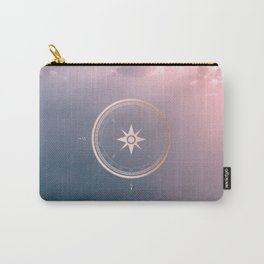 The Edge of Tomorrow - Rosegold Compass Carry-All Pouch