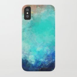 Watercolor Aerial View of Ocean Cove {Gold Coast} iPhone Case