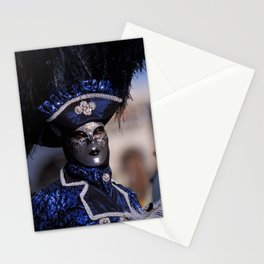 Blue Carnival Costume Stationery Cards