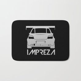 Subaru Impreza - silver - Bath Mat