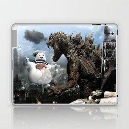 Godzilla versus The Staypuft Marshmallow Man Laptop & iPad Skin