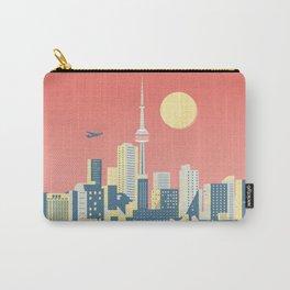 Toronto City Skyline Art Illustration - Cindy Rose Studio Carry-All Pouch