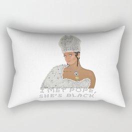 I Met Pope, She's Black. Rectangular Pillow