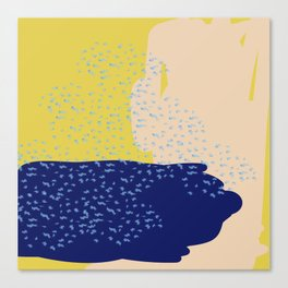 Mustard Sea Canvas Print