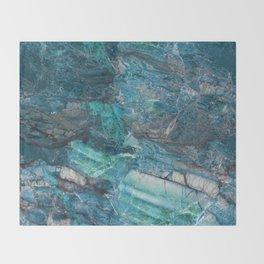 Siena turchese - blue marble Throw Blanket