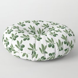 Olive Leaves Pattern Floor Pillow