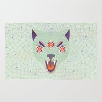 cosmic Area & Throw Rugs featuring Cosmic Cat by LordofMasks