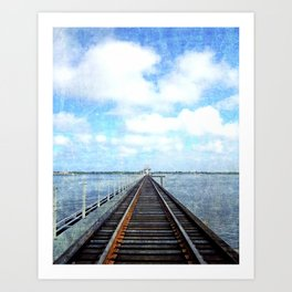 Track Through the Bay. Art Print