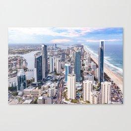 Surfers Paradise high rise skyline in Gold Coast, Queensland, Australia Canvas Print