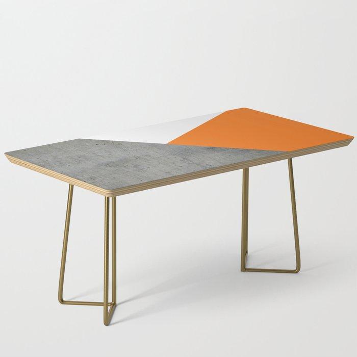 Concrete Tangerine White Coffee Table