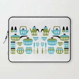 My Midcentury Modern Kitchen In Aqua And Avocado Laptop Sleeve